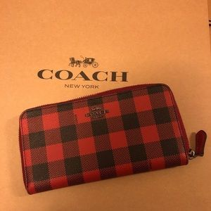Coach Plaid Wallet NWT